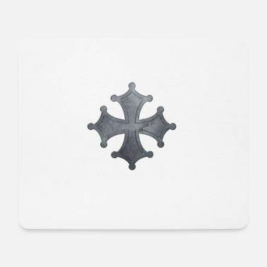 Iron Metal Occitan cross metal iron - Mouse Pad