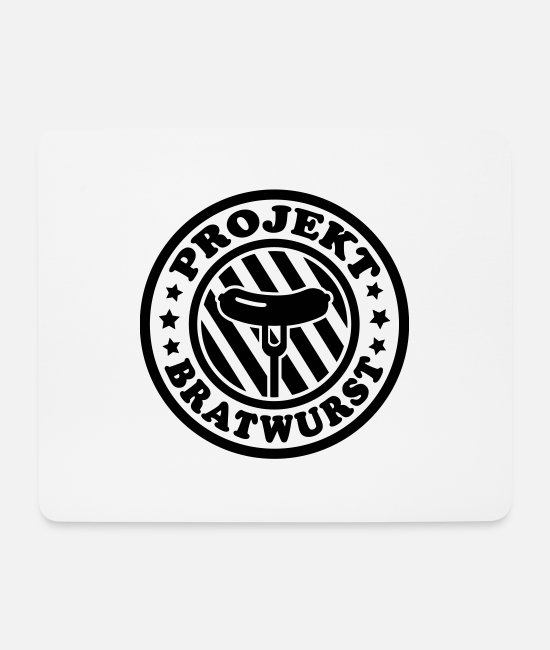 Bbq Mouse Pads - Project Bratwurst - Mouse Pad white