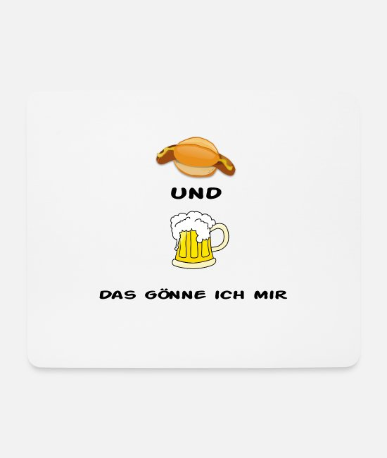 Stadium Mouse Pads - Bratwurst & beer - Mouse Pad white
