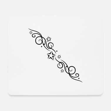 Filigree Filigree tribal with stars - Mouse Pad