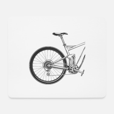 Uphill Bicycle Mountain Bike MTB Uphill Downhill Gift - Mouse Pad
