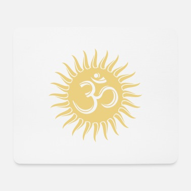 India Goa Trance Om Sonne, Buddhismus, spirituell, Yoga, Meditation - Mousepad