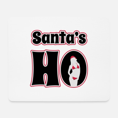 Winter Underwear Santa's Ho - Mouse Pad