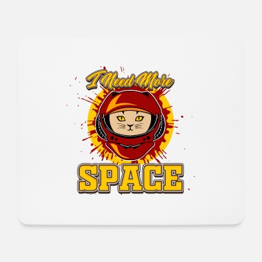 Cat Cat as an astronaut - Mouse Pad