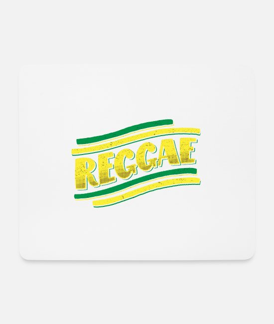 Rasta Mouse Pads - REGGAE BANNER - Mouse Pad white