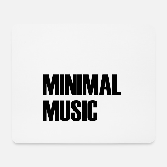 Minimum Mouse Pads - MINIMAL MUSIC - Mouse Pad white