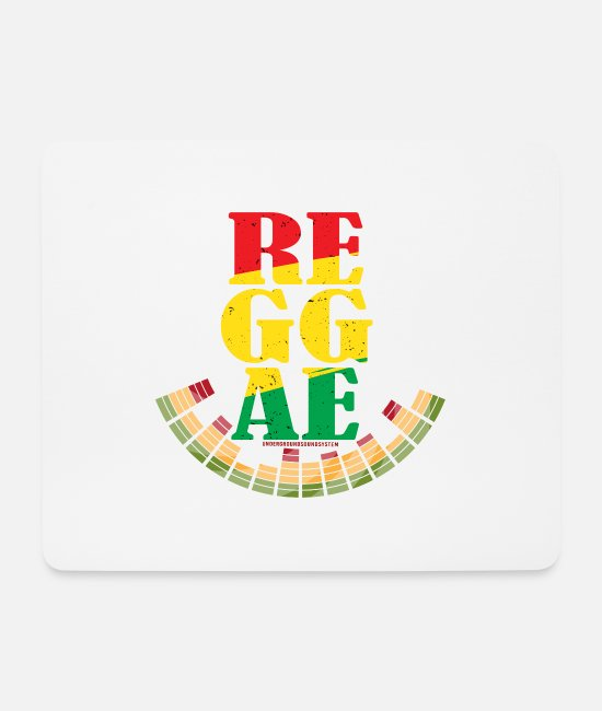 Rastafari Mouse Pads - Reggae Volume! - Mouse Pad white