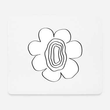 Easy flower power super flower women awesome design idea - Mouse Pad
