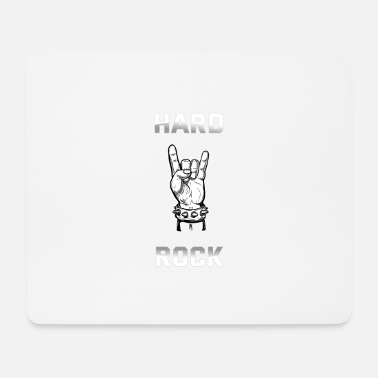 Guitar Player Mouse Pads - HARD ROCK design - Mouse Pad white
