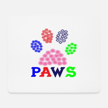 Yourself Paws dog paws dogs flowers flowers phote paw - Mouse Pad