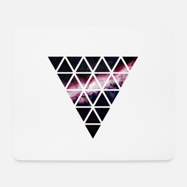 Triangle triangle of triangles galaxy - Mouse Pad