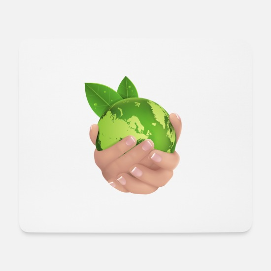 Earth Mouse Pads - Protects the earth, world, nature, environment - Mouse Pad white
