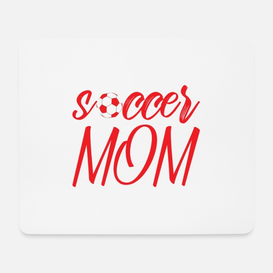 Love Mouse Pads - Soccer Mom Gift - Mouse Pad white