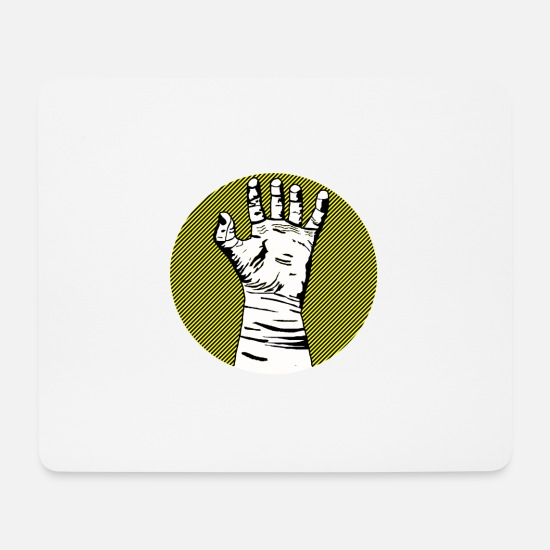 Finger Mouse Pads - The hand - Mouse Pad white