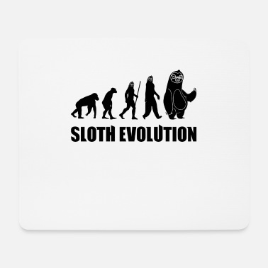 Darwin Sloth Evolution Funny Animal Darwin T-Shirt - Mousepad