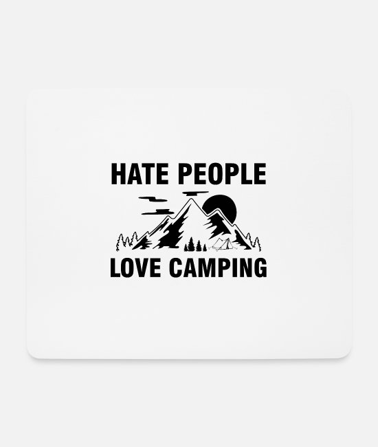 Camping Mouse Pads - Camping lovers | Camping campsite gifts - Mouse Pad white