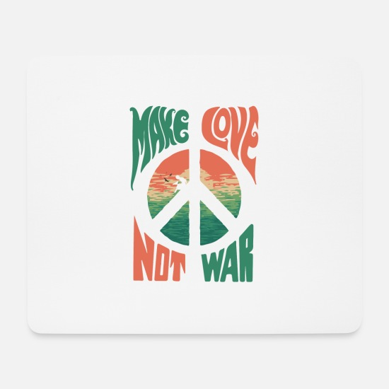 Love Mouse Pads - Make Love was not - Mouse Pad white
