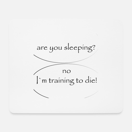 Sleep Mouse Pads - are you sleeping - Mouse Pad white