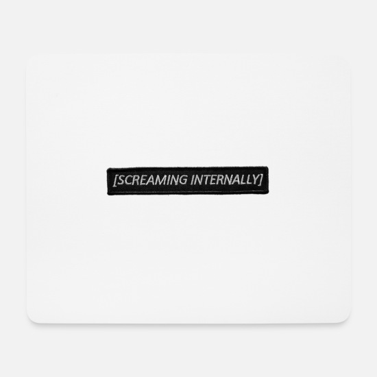 Unhappy Mouse Pads - Mood Screaming font - Mouse Pad white