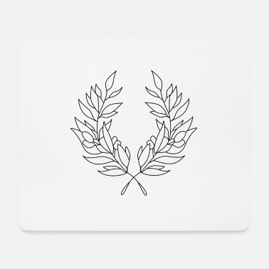 Wreath wreath - Mouse Pad