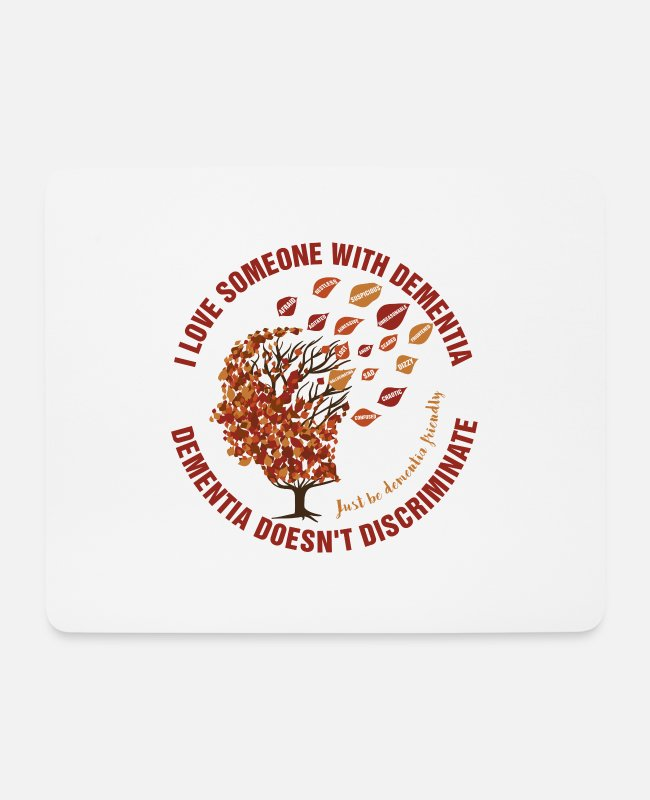Vascular Dementia Mouse Pads - Dementia Doesn't Discriminate - Mouse Pad white