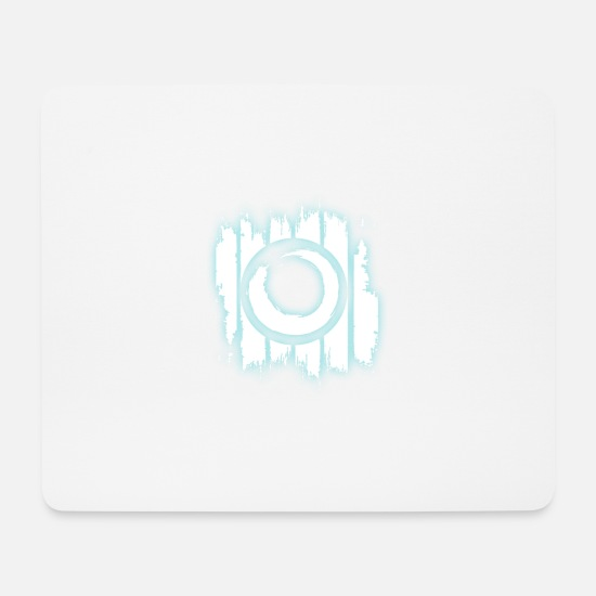 Pinsel Mousepads  - ying yang tuerkis 3 - Mousepad Weiß