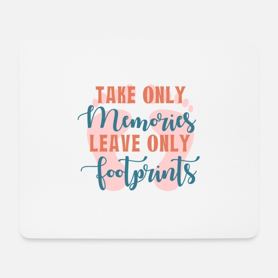 Travel Mouse Pads - Memories- Footprints Gift Idea - Mouse Pad white