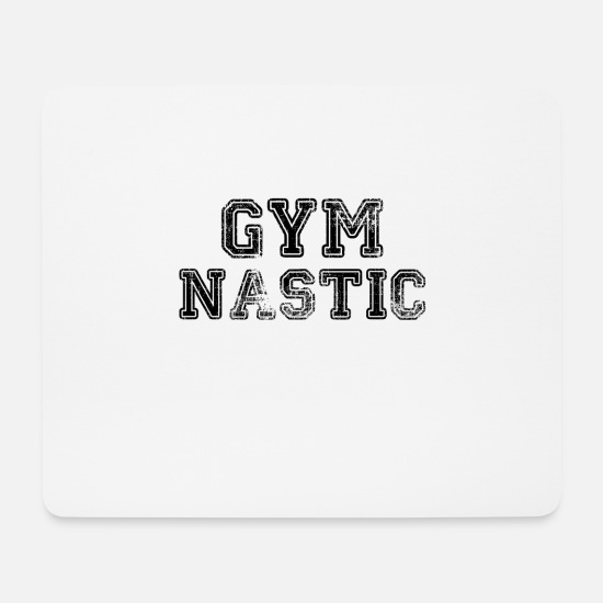 Gift Idea Mouse Pads - GYMNASTIC FEMALE COLLEGE SPORTY EDIT GIFT IDEA - Mouse Pad white