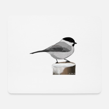 Official Painted willow tit bird animal design - Mouse Pad