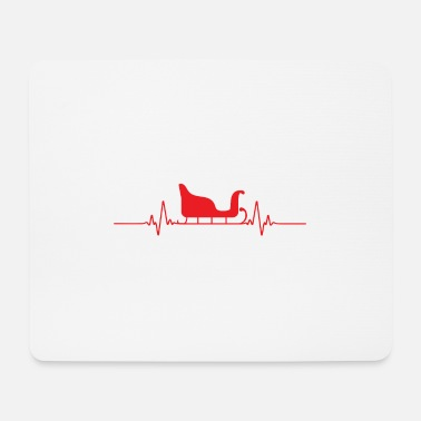 Beat Funny Christmas Heart Beat Sleigh Gift Idea - Mouse Pad