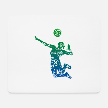 Volleyballbus Volleyball player Maori style gift idea - Mouse Pad