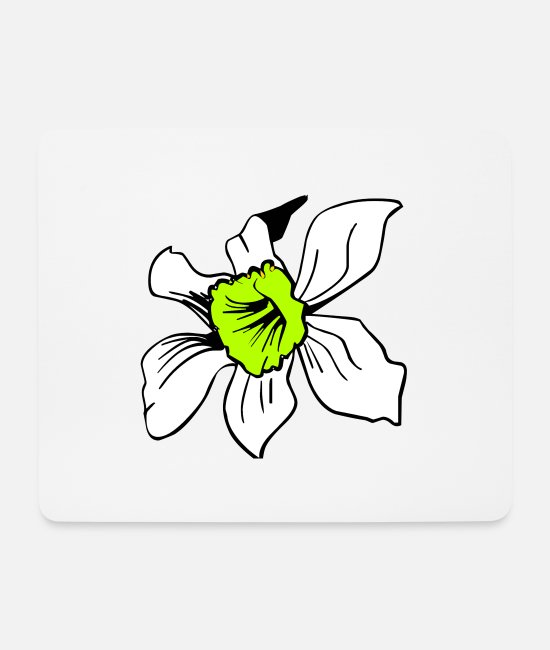 Garden Mouse Pads - flower - Mouse Pad white