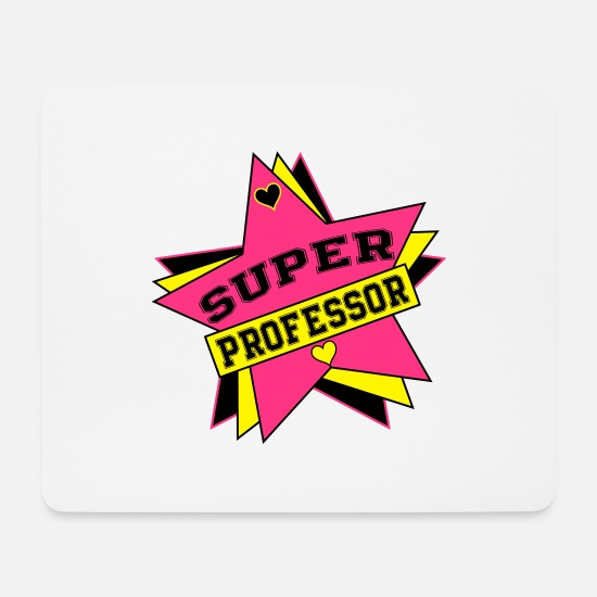 Studies Mouse Pads - Professor / Teacher / Student / School / Girl - Mouse Pad white