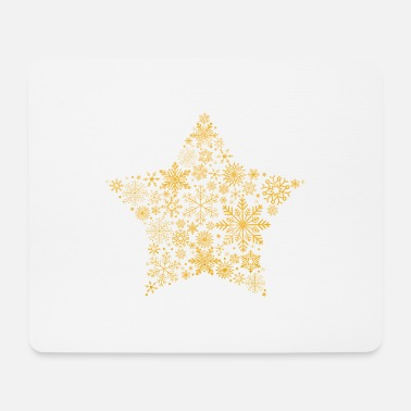 Flocke snowflake star gold - Mousepad