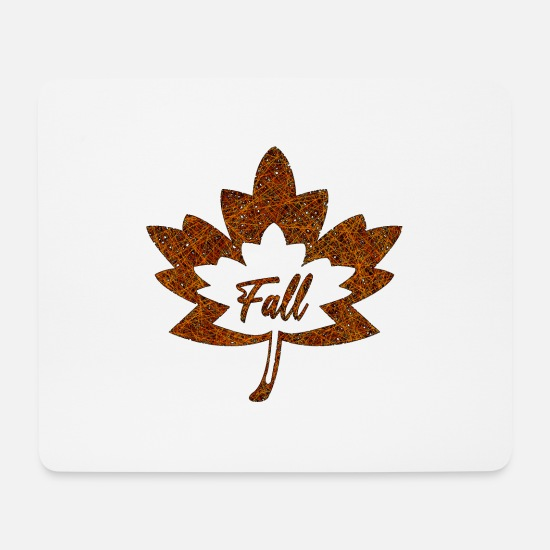 Brown Mouse Pads - Autumn - Mouse Pad white