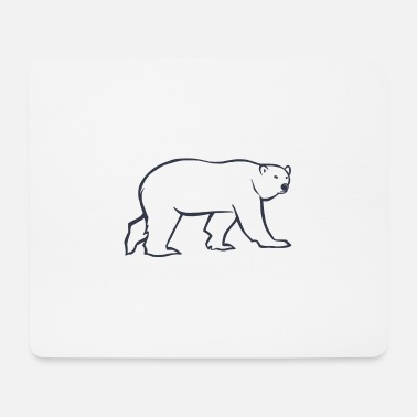Arctic Polar Bear 2 - Simple Version - Mouse Pad