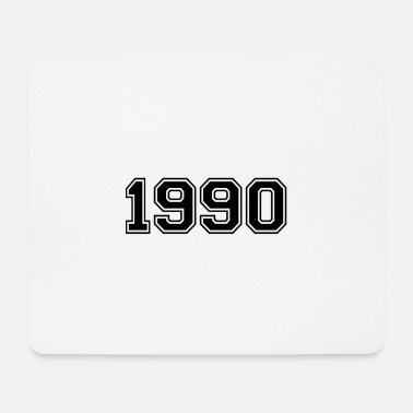 Date 1990 black - Mouse Pad