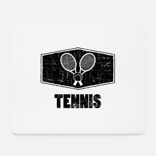 Tennis Match Mouse Pads - Tennis tennis player tennis racket tennis ball - Mouse Pad white