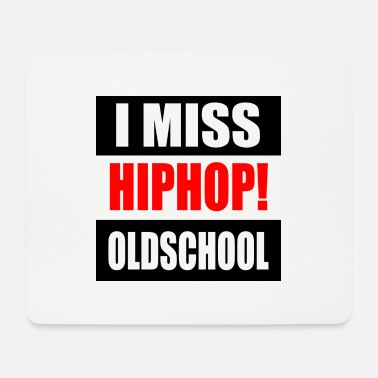 I MISS HIPHOP OLDSCHOOL LOGO 2020 RGB - Tappetino mouse