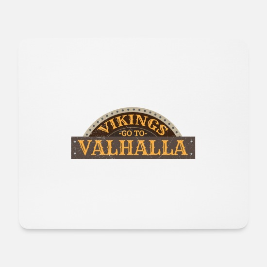 Norman Mouse Pads - Vikings go to Valhalla Viking gift idea - Mouse Pad white