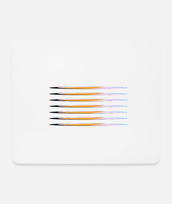 Hipster Mouse Pads - Seven colorful strips - Mouse Pad white