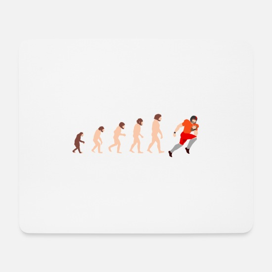 Birthday Mouse Pads - Evolution Quarterback American Football gift - Mouse Pad white