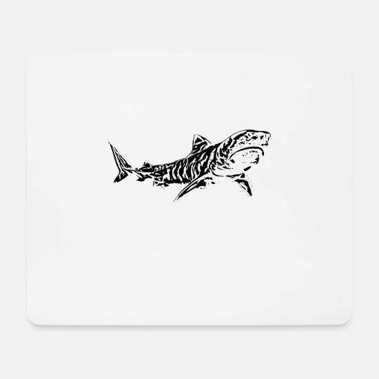 Tiger Shark Mouse Pads - Tiger Shark - Mouse Pad white