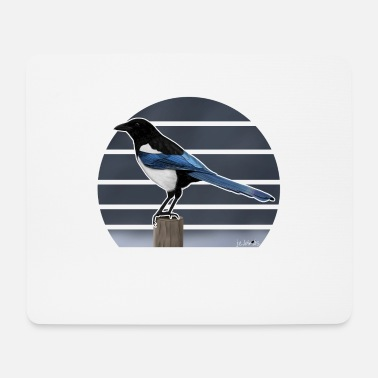 Bird Picture jz.birds bird motif magpie bird illustration - Mouse Pad