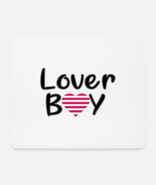 Heart Mouse Pads - Lover Boy Valentine's Day Valentines Day Gift - Mouse Pad white