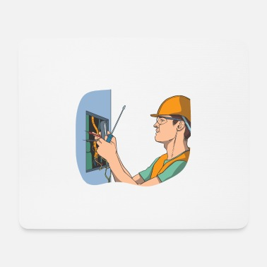 Cabinet Electrician at the control cabinet - Mouse Pad