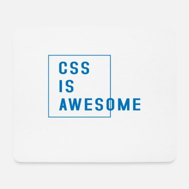 Css Css is awesome - Mouse Pad