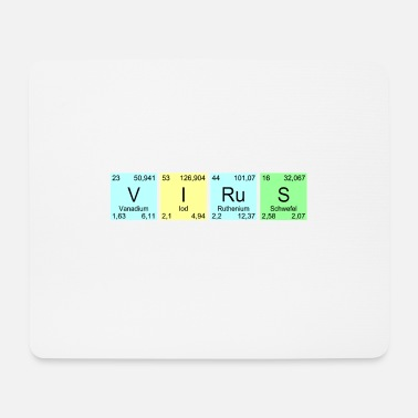 Intensified Course VIRuS periodic table teacher gift - Mouse Pad