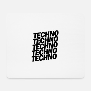 Dubstep TECHNO TECHNO TECHNO - Tappetino mouse