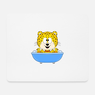 Water Bird Funny leopard - cheetah - bathtub - Mouse Pad